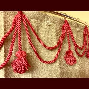 Vintage rope and tassel portiere with tie backs